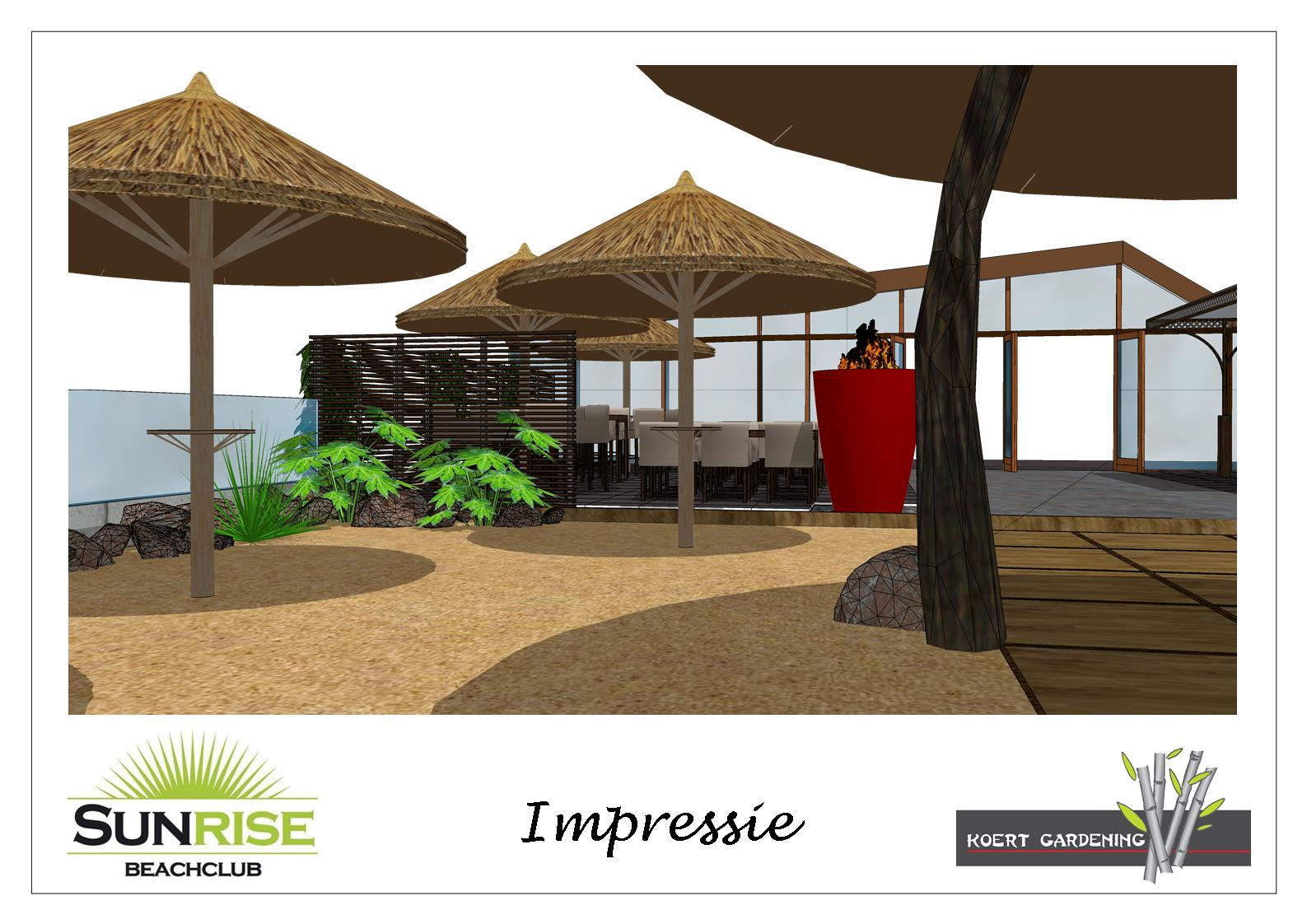 Beachclub Sunrise ontwerp
